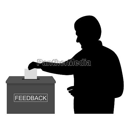 customer or businessman employee putting paper
