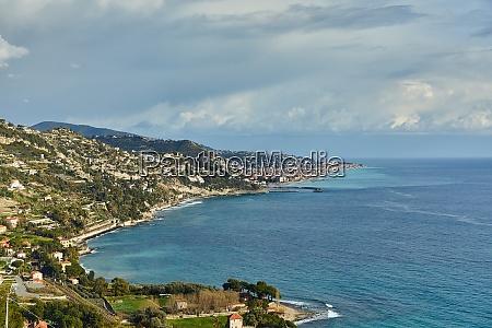 mediterranean coastal landscape french and italian