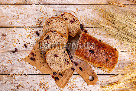 cranberry loaf of bread