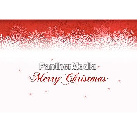 christmas card with stylish snowflake illustration