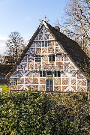 historic half timbered house with compartments