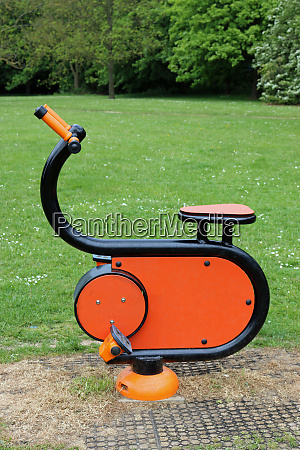 outdoor gym equipment in a park