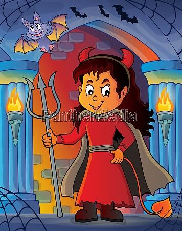 girl in devil costume image 3
