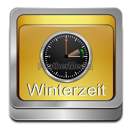 golden winter time button