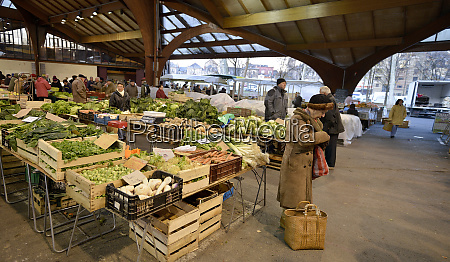 food market in france early morning