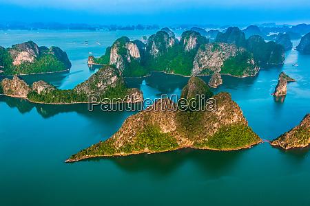 aerial view of ha long bay
