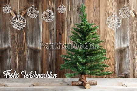 christmas decoration tree frohe weihnachten means