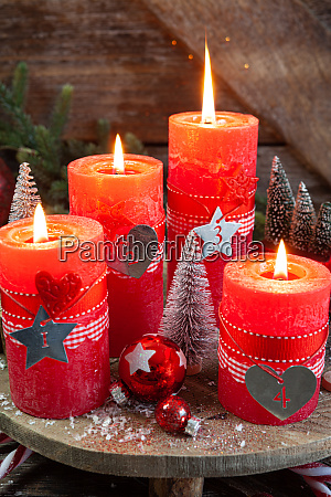 colorful candles and festive decorations