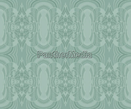 regular ornamental pattern in pastel green