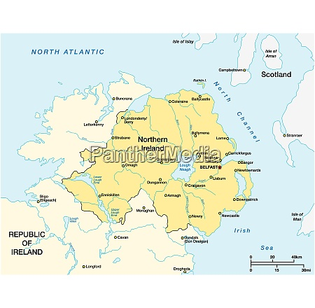 simple map of northern ireland and