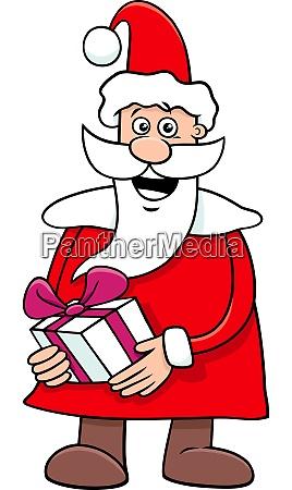 santa claus cartoon character on christmas