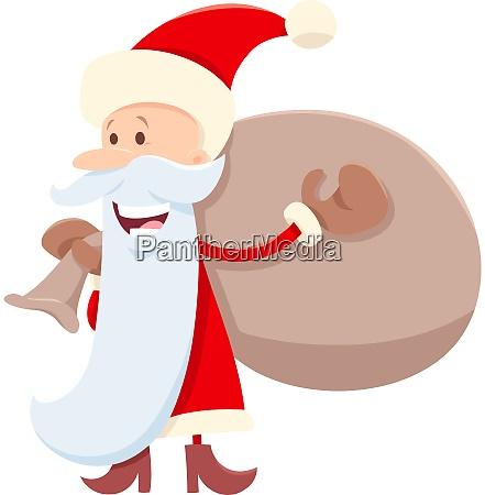 funny santa claus cartoon character with