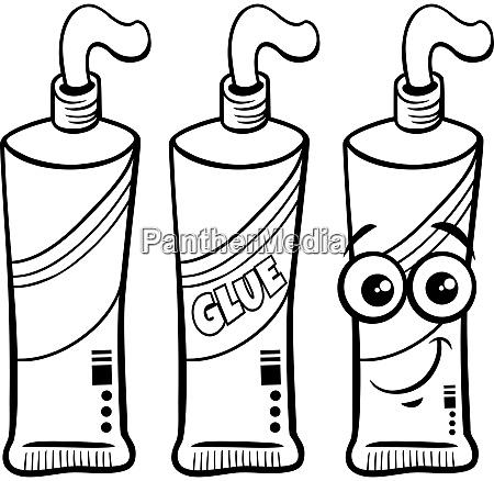 tube of glue character clip art