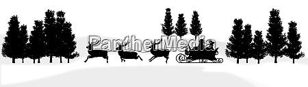christmas panorama santa claus sleigh