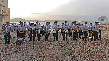 orchestra fire brigade saint tropez