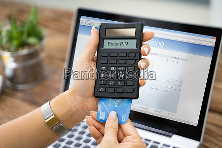 woman using two factor authenticating for