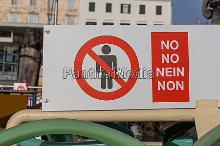 no people sign