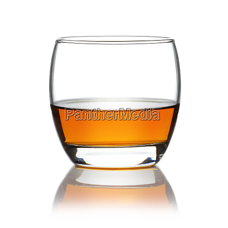 scotch in a round tumbler isolated