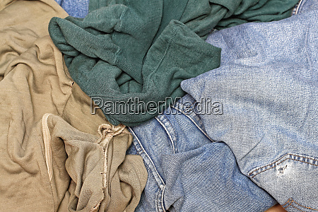 worn out rags