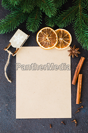 christmas culinary background for menu or
