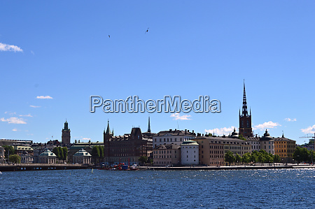 stockholm in sweden under summer