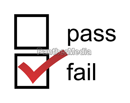 fail pass checkbox with red fail
