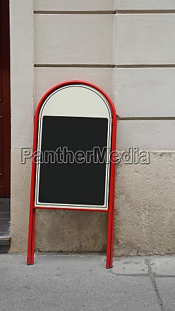 menu sign board