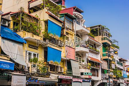 architecture of hanoi old quarter vietnam