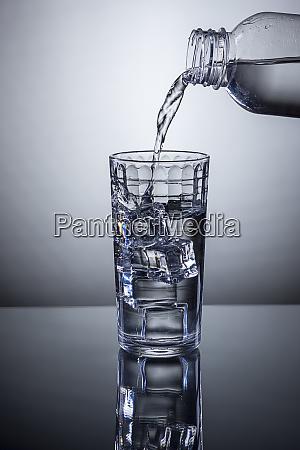 pouring refreshing watter