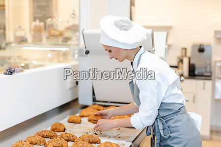 confectioner woman baking pastry roles and