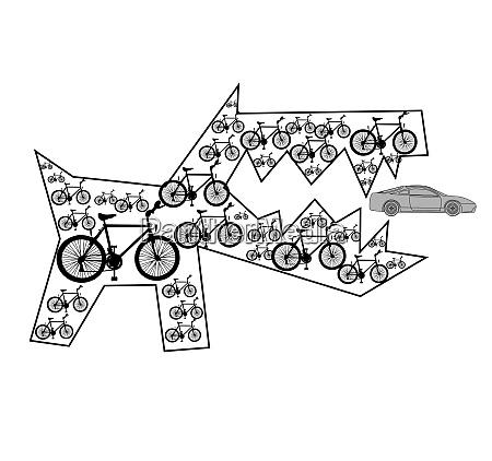 bikes and machine