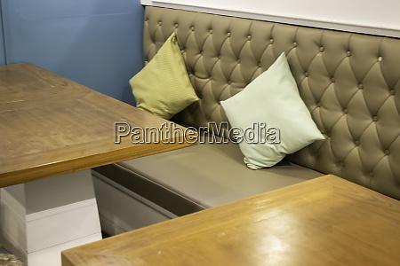 interior design of coffee shop wooden