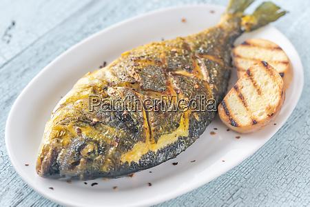 fried saffron sea bream