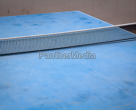 details of a blue table tennis