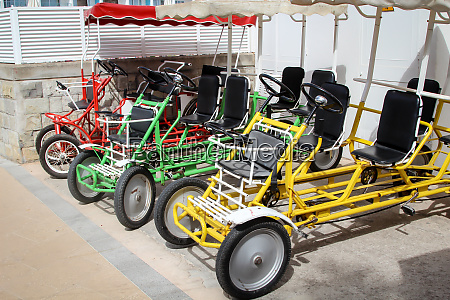 pedal car bicycle tandem for the