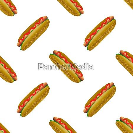 street fast food seamless pattern fresh