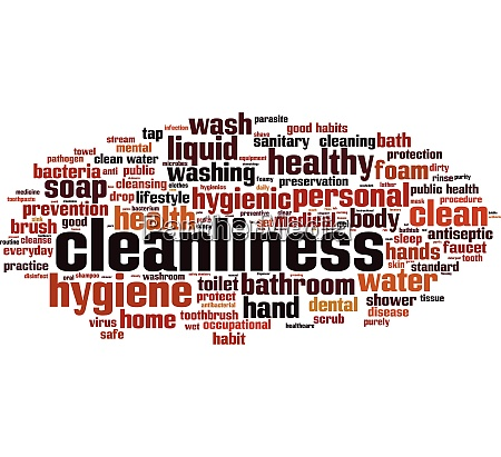 cleanliness word cloud