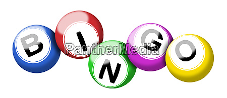 colorful bingo balls illustration isolated on
