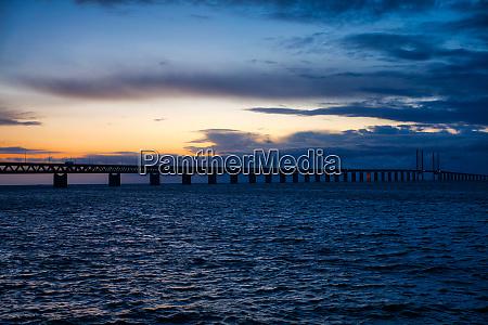 OEresund bridge sundown
