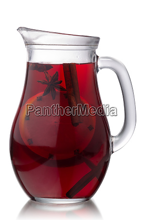 mulled win jug isolated paths