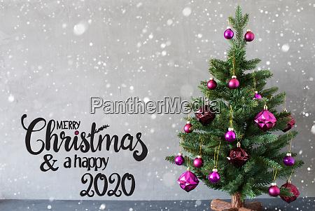 christmas tree purple ball merry christmas