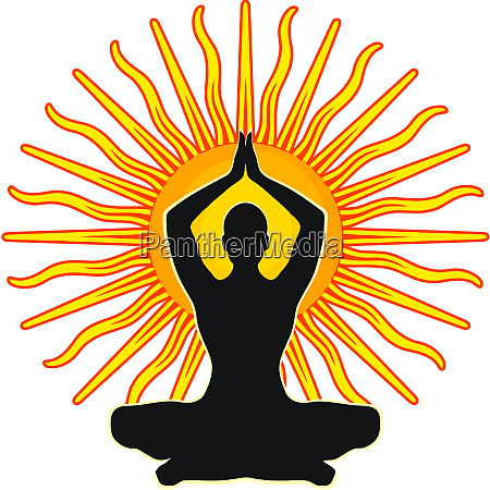 chakra mindfulness spiritualmeditation mantra illustration sun