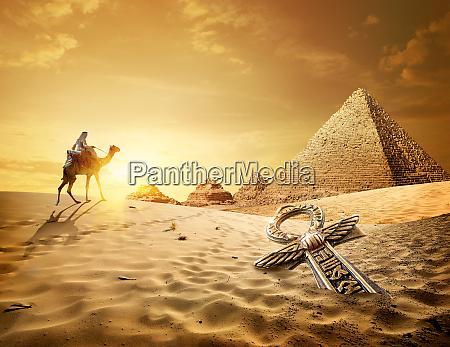 pyramids and ankh cross