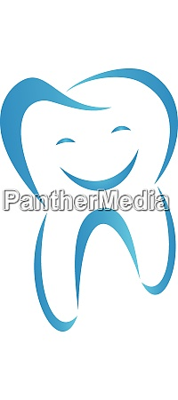 tooth with smile tooth dentistry logo