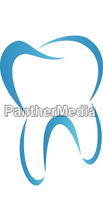 tooth in blue dentistry tooth logo