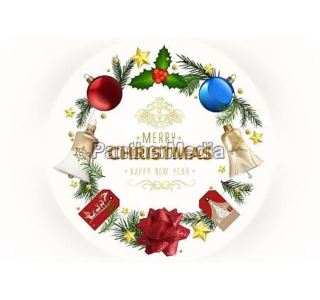 modern christmas greeting card with xmas