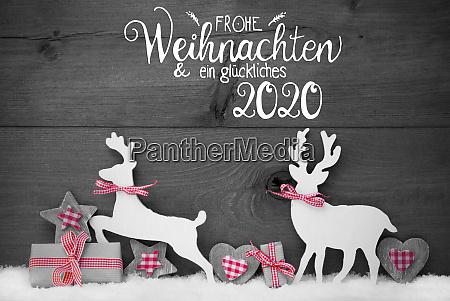 gift deer heart snow glueckliches 2020