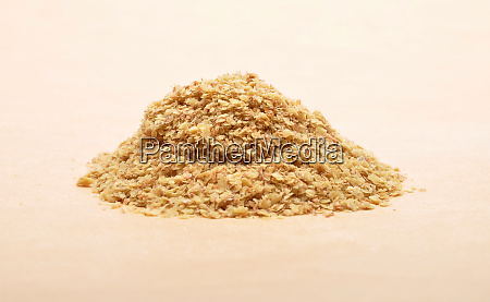 wheat germs on brown background