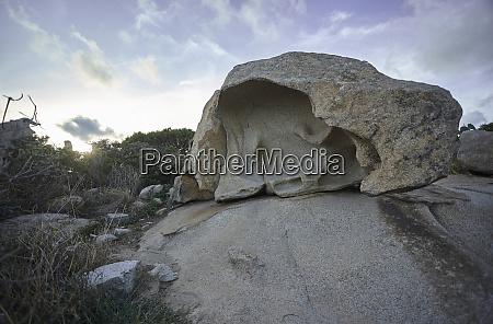 large hollow granite rock