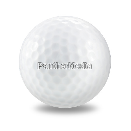 golf ball on a white background